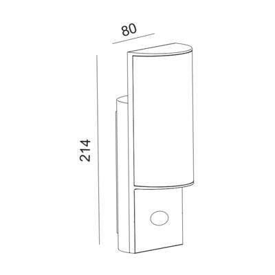 Fasádní LED svítidlo Slip - senzor - 2