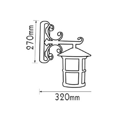 Nástěnná lucerna Cres - 3 - 2