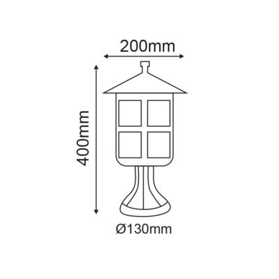 Zahradní lucerna Cres - 2