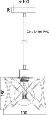 Závěsné svítidlo X - 1 - 2