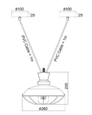 Závěsné svítidlo Industry - 6 - 2
