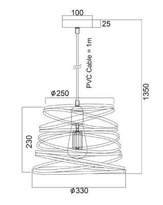 Závěsné svítidlo Ribbon - S - 2