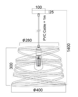 Závěsné svítidlo Ribbon - L - 2