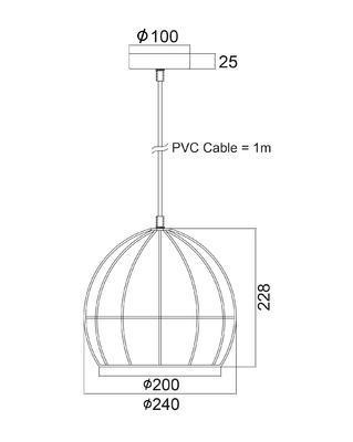 Závěsné svítidlo Cage - 4 - 2