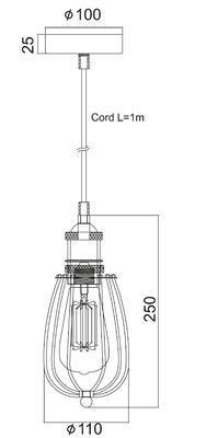 Závěsné svítidlo Mini Cage - 2 - 2