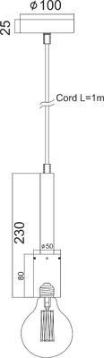 Závěsná objímka Nail - černá - 2