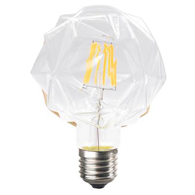 LED žárovka Filament Lilac E27 6W, Čirá - 2