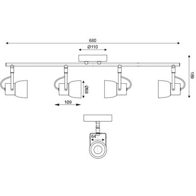 Stropní/Nástěnné svítidlo Cement Spot 4 - 2