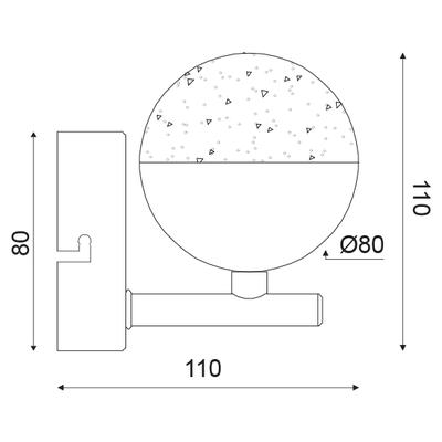 LED svítidlo Half Ball 4 - 2