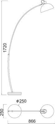 Stojací lampa White - 2