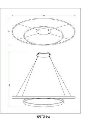 Závěsné LED svítidlo PERIA - 1 - 2