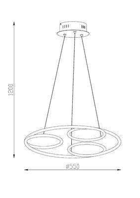 Závěsné LED svítidlo PERIA - 3 - 2