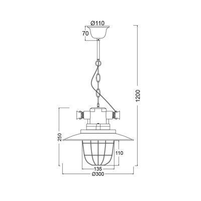 Závěsné svítidlo Industry - 2 - 2
