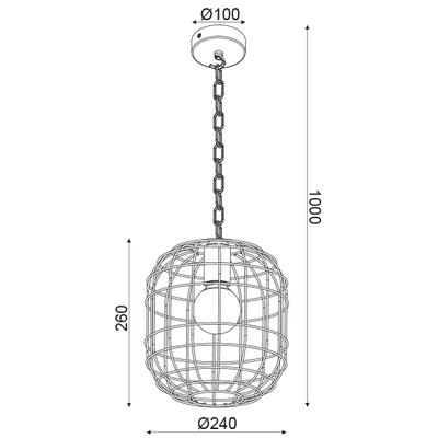 Závěsné svítidlo Cage - 1 - 2