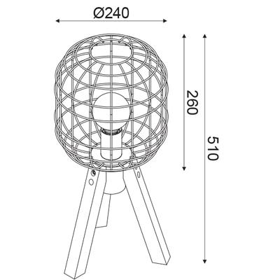 Stolní lampa Cage - 2