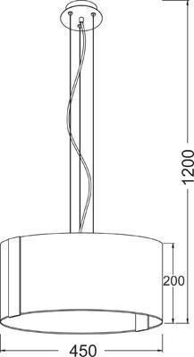 Závěsné svítidlo Crystal ring - L - 2