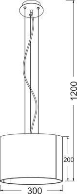 Závěsné svítidlo Crystal ring - S - 2