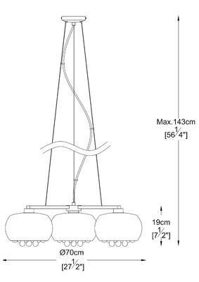Závěsné svítidlo CRYSTAL 3R - 2