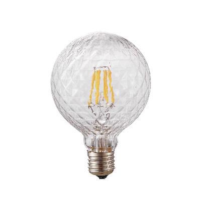 LED žárovka Filament Poc O95 E27 6W, Čirá - 2