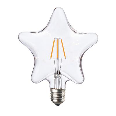 LED žárovka Filament Star E27 6W, jantar - 2
