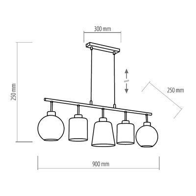 Závěsné svítidlo PEDRO GLASS - 1 - 2