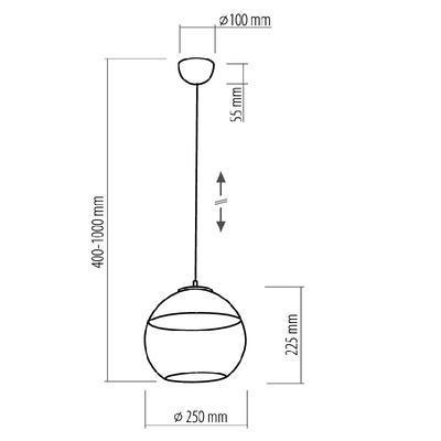 Závěsné svítidlo AMBER - 1 - S - 2