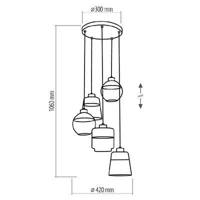 Závěsné svítidlo AMBER - 3 - 2