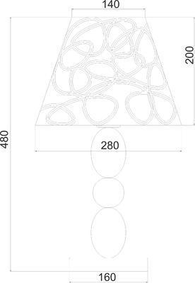 Stolní lampa Curves - 2