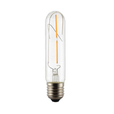 LED žárovka Filament Tube E27 4W - S, jantar - 2