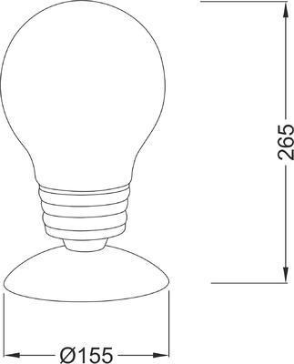 Stolní lampa Bulb 2 - 2