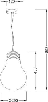 Závěsné svítidlo Bulb - 1 - 2