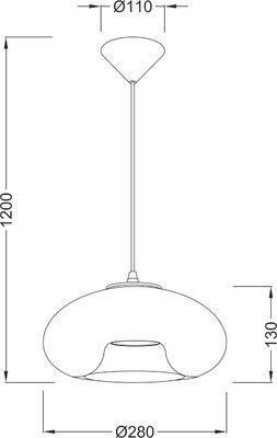 Závěsné svítidlo Glassy - 1 - 2