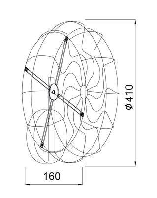 Nástěnné svítidlo Fan - 2