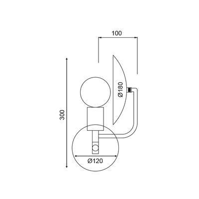Nástěnné svítidlo Disc - 2
