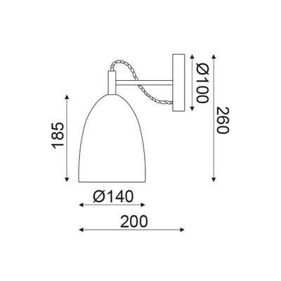 Nástěnné svítidlo Clay - 2
