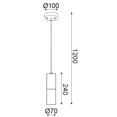 Závěsné svítidlo Pipe - 3 - 2