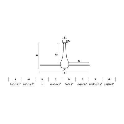 """Stropní ventilátor ETERFAN - 50,4"""" - reverzní - 2"""