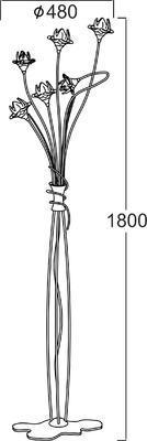Stojací lampa Narcissus - 2