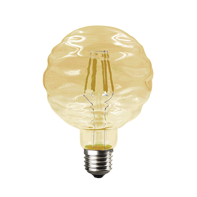 LED žárovka Filament Waft E27 6W, Jantar - 2
