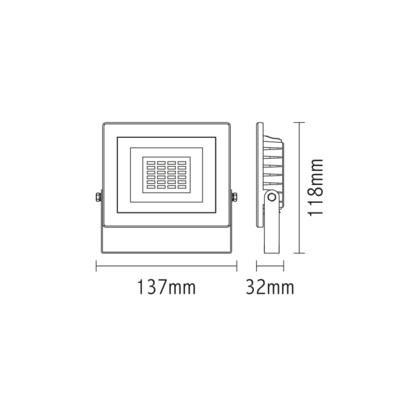 LED reflektor 10W - černý - 2