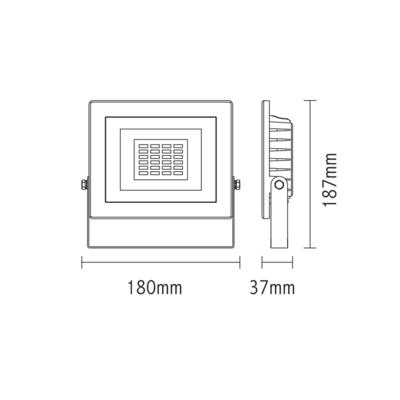 LED reflektor 20W s pohybovým čidlem - černý - 2