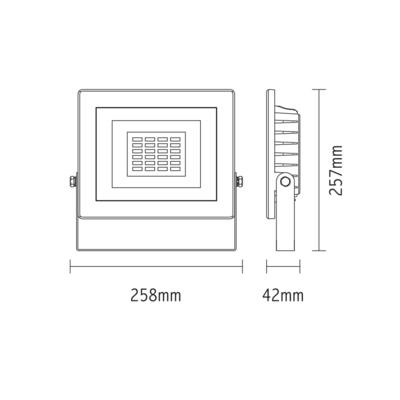 LED reflektor 50W - černý - 2