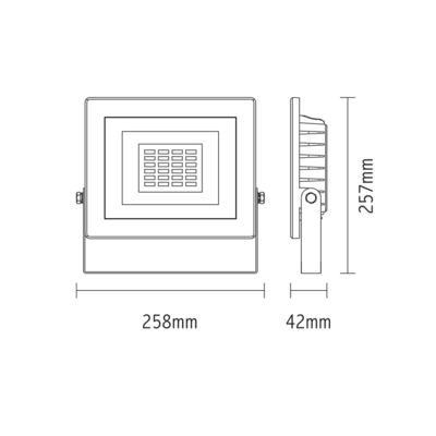 LED reflektor 50W - bílý - 2