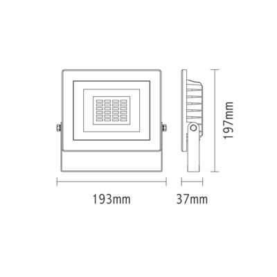 LED reflektor 30W s pohybovým čidlem - černý - 2