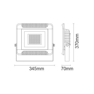 LED reflektor 150W - černý - 2