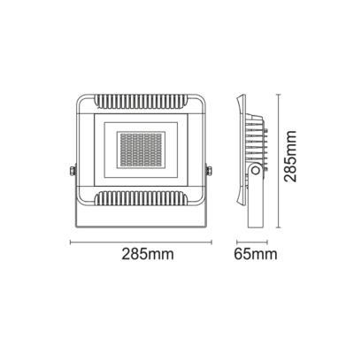 LED reflektor 100W černý, Teplá bílá - 2