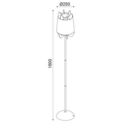 Stojací lampa Lappet - 2
