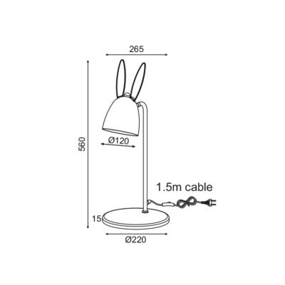 Dětská stolní lampička Ears - 2