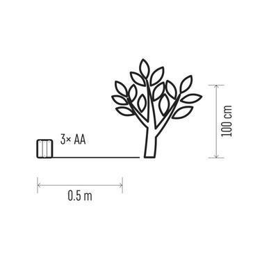 Vánoční venkovní LED strom 100cm s časovačem - 2