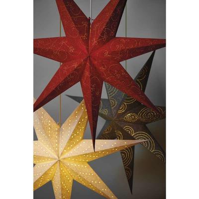 Vánoční papírová Hvězda 75cm - stříbrná - 2